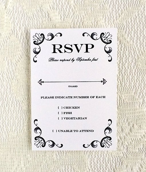 Rsvp Cards Templates Free Fresh Vintage Iron & Lace Rsvp Template