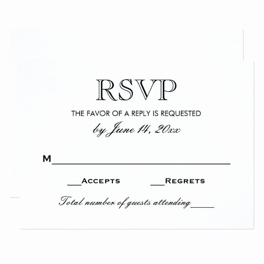 Rsvp Cards Templates Free Fresh Wedding Rsvp Card Black and White