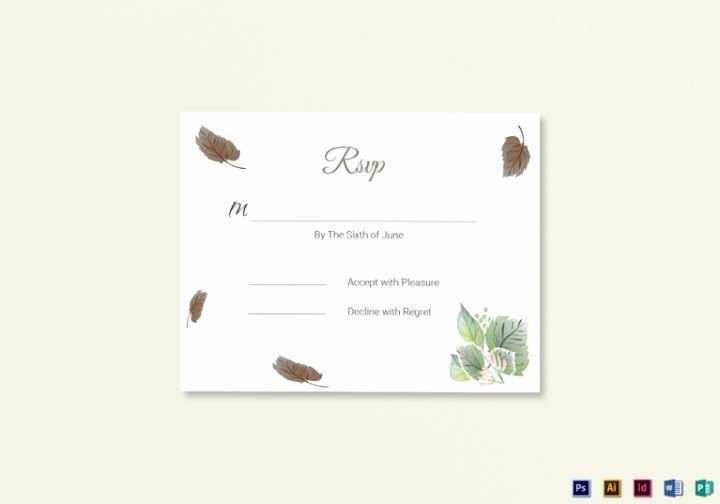 Rsvp Cards Templates Free Lovely 18 Wedding Rsvp Card Templates Editable Psd Ai Eps
