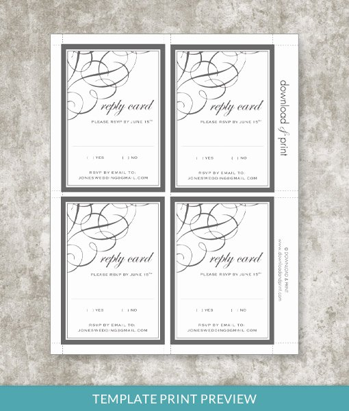 Rsvp Cards Templates Free Luxury 9834 Ae Print Preview