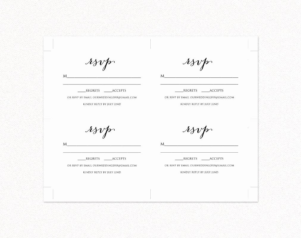 Rsvp Cards Templates Free Luxury Wedding Rsvp Card Template Diy Wedding Templates and