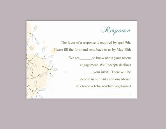 Rsvp Cards Templates Free Unique Diy Wedding Rsvp Template Download Printable Wedding Rsvp