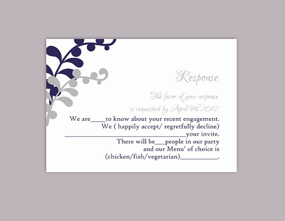 Rsvp Cards Templates Free Unique Diy Wedding Rsvp Template Editable Text Word File Download