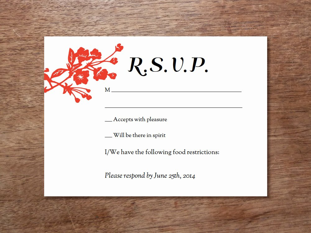 Rsvp Cards Templates Free Unique Printable Rsvp Template – Gongxi – Epaperheart