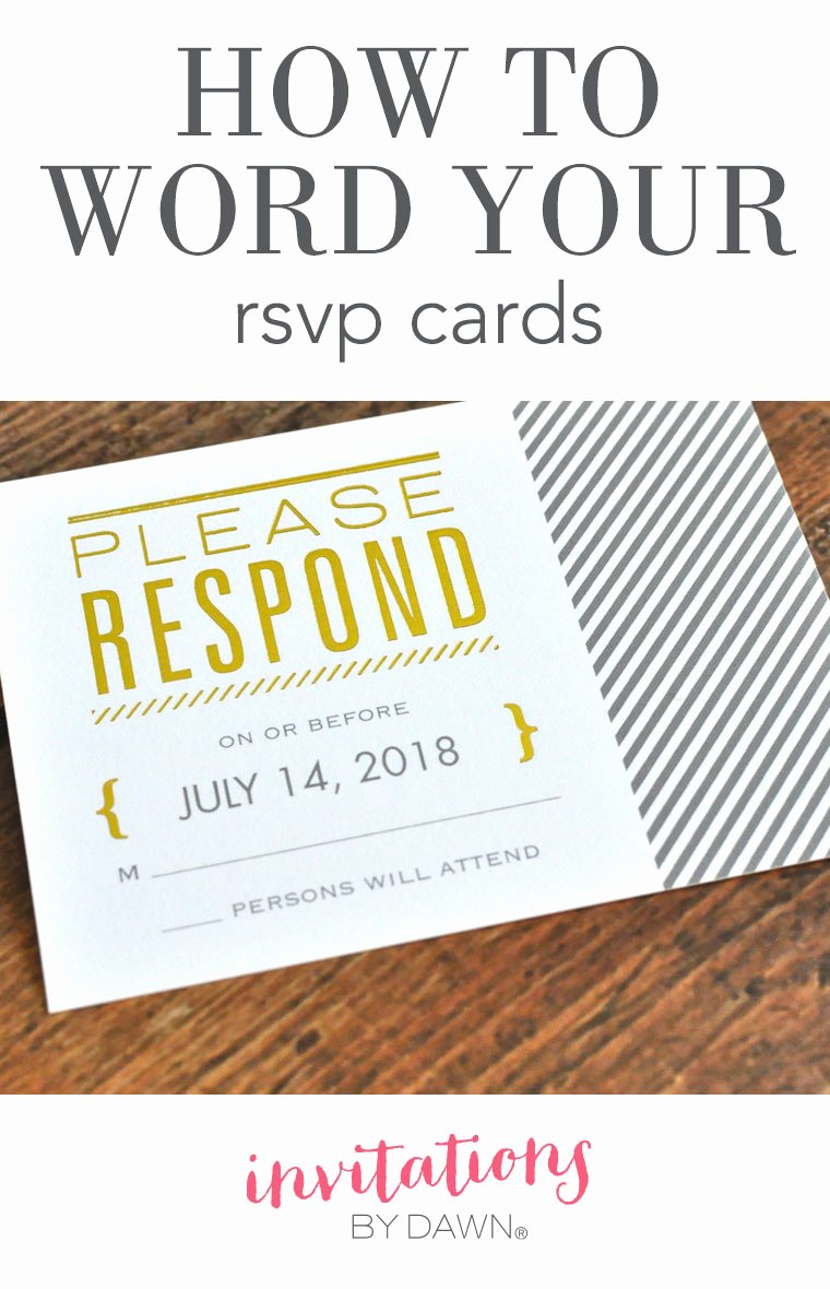 Rsvp Online Wording Best Of How to Word Your Rsvp Cards