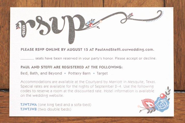 Rsvp Online Wording Best Of Wedding Invitation – Jamie Bartlett Design