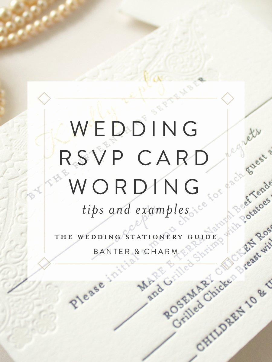 Rsvp Online Wording Best Of Wedding Stationery Guide Rsvp Card Wording Samples