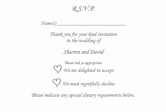 Rsvp Online Wording Luxury 10 X Rsvp Reply Card Personalised Wedding Christening