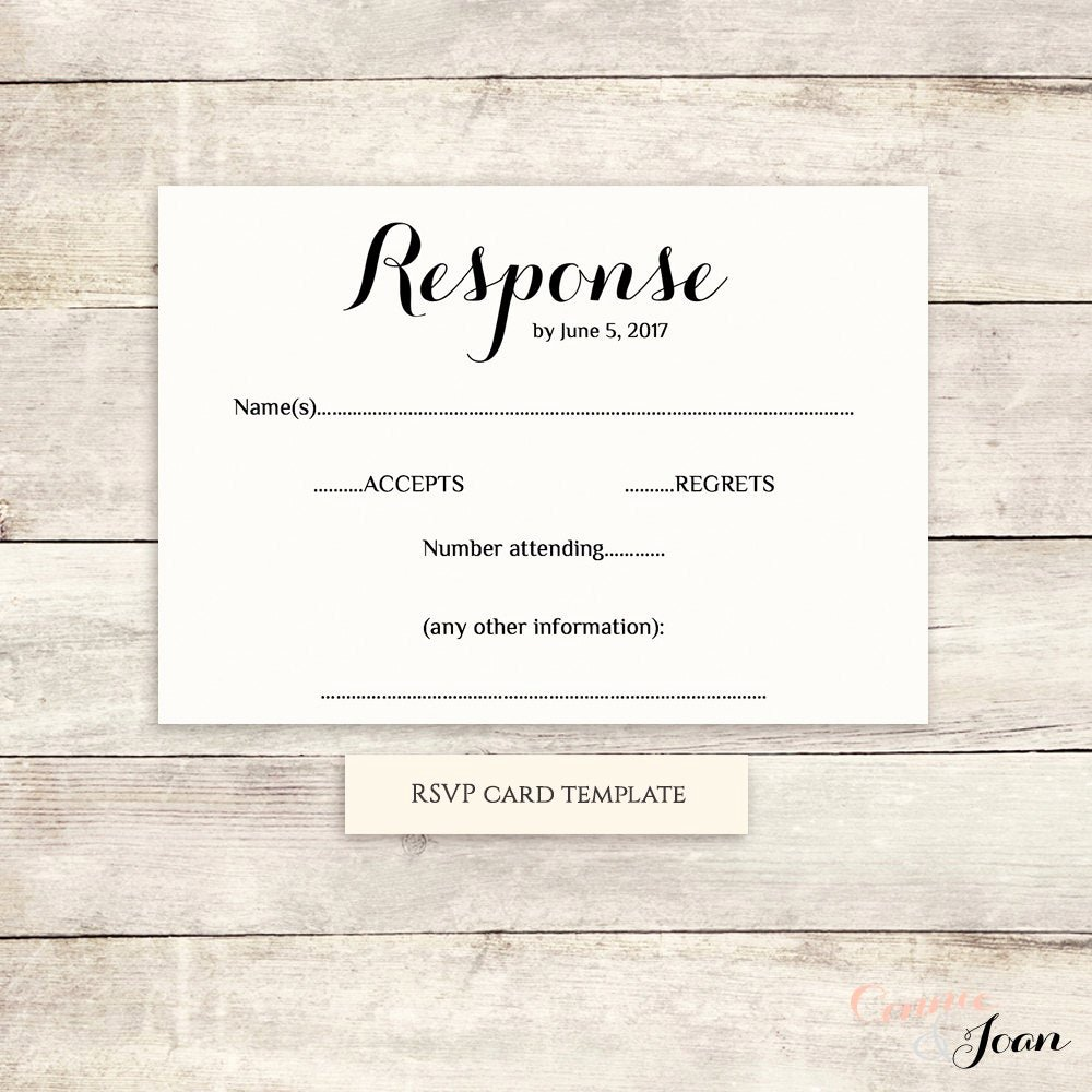 Rsvp Postcard Template Free Beautiful Printable Wedding Rsvp Template Rsvp Card byron Any