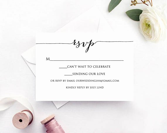 Rsvp Postcard Template Free Best Of Rsvp Card Template Edit & Print Instant Download Diy