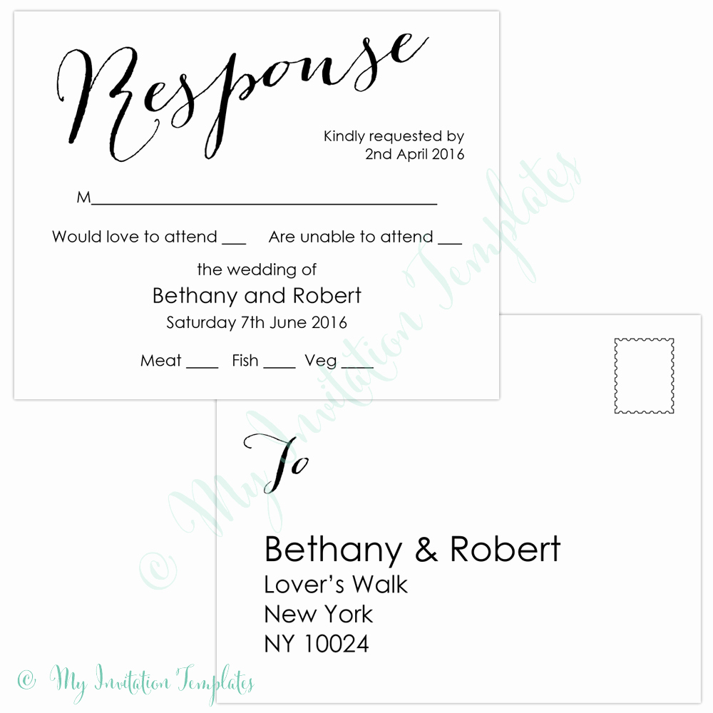 Rsvp Postcard Template Free Elegant Free Rsvp Template