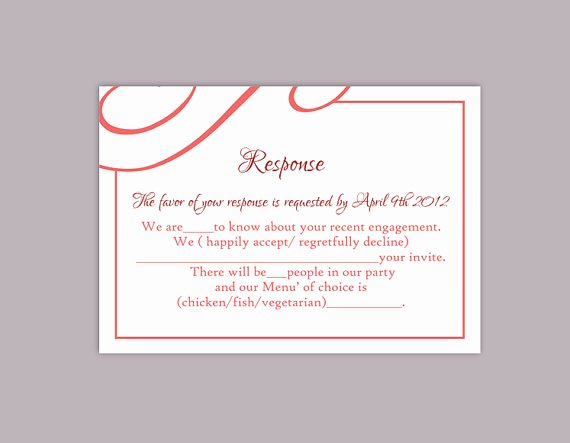 Rsvp Postcard Template Free Fresh Diy Wedding Rsvp Template Editable Text Word File Download
