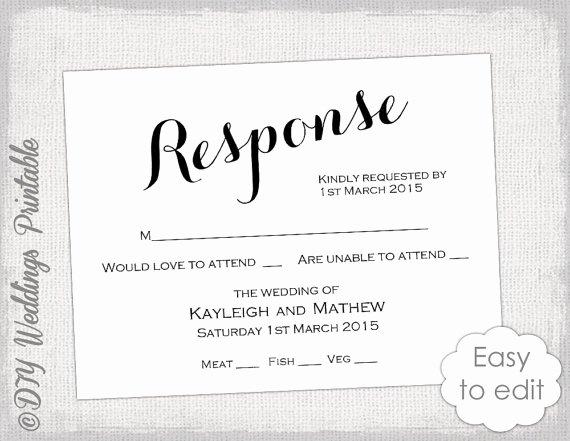 Rsvp Postcard Template Free Fresh Rsvp Template Diy Calligraphy Carolyna Printable
