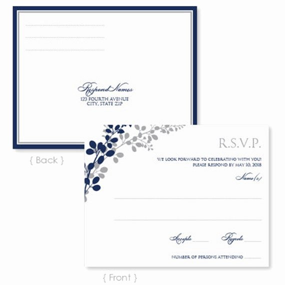 Rsvp Postcard Template Free Luxury Wedding Rsvp Postcard Template Instant Download by