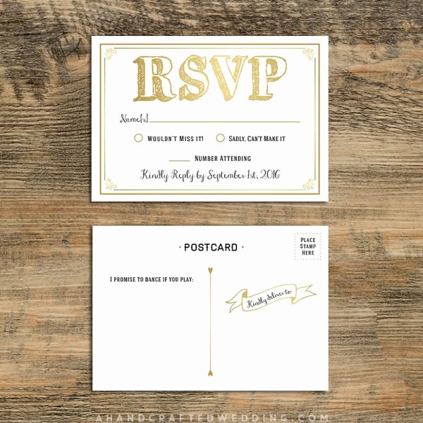 Rsvp Postcard Template Free Unique 17 Best Images About Wedding Invitations On Pinterest
