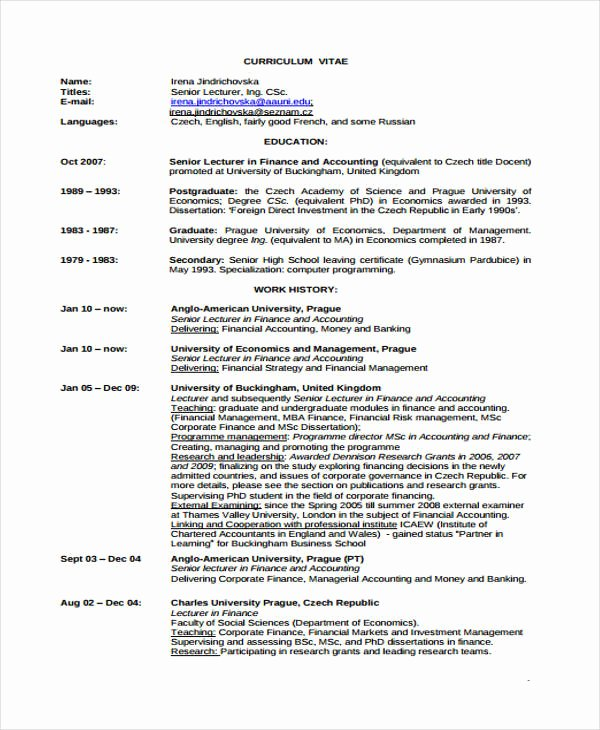 Rutgers Business School Resume Template Awesome 25 Finance Resumes In Pdf