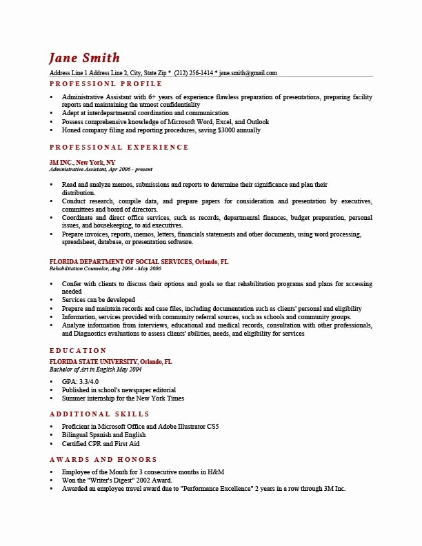 Rutgers Business School Resume Template Best Of How to Write A Resume Profile Examples & Writing Guide