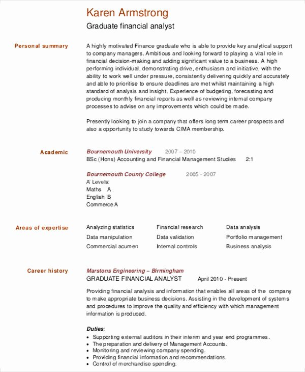 Rutgers Business School Resume Template Inspirational 25 Finance Resumes In Pdf