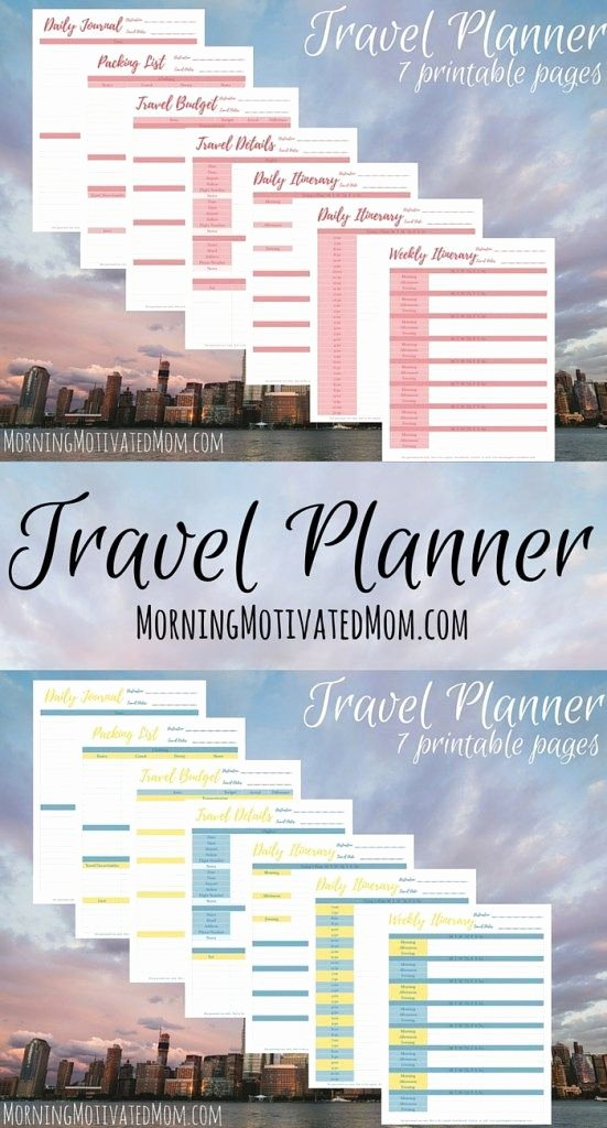Rv Journal Template Beautiful Travel Planner Printables