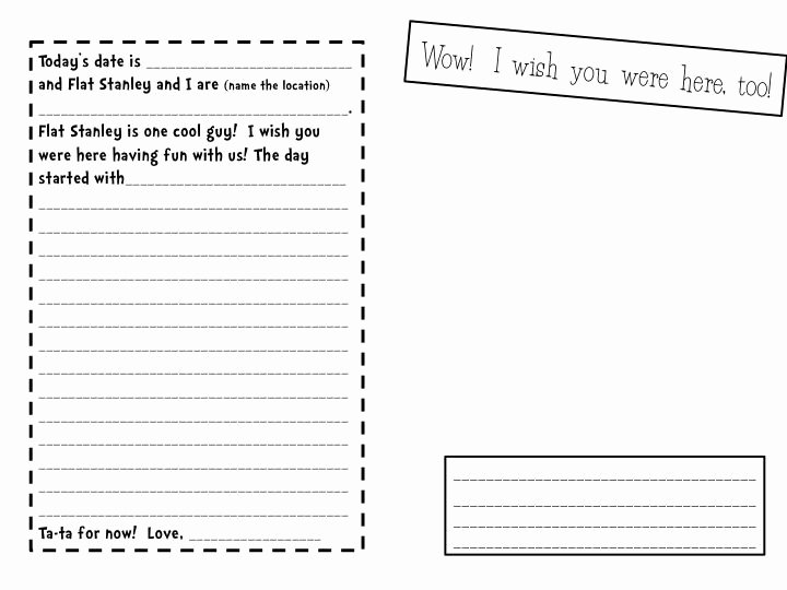 Rv Journal Template Inspirational Flat Stanley Template