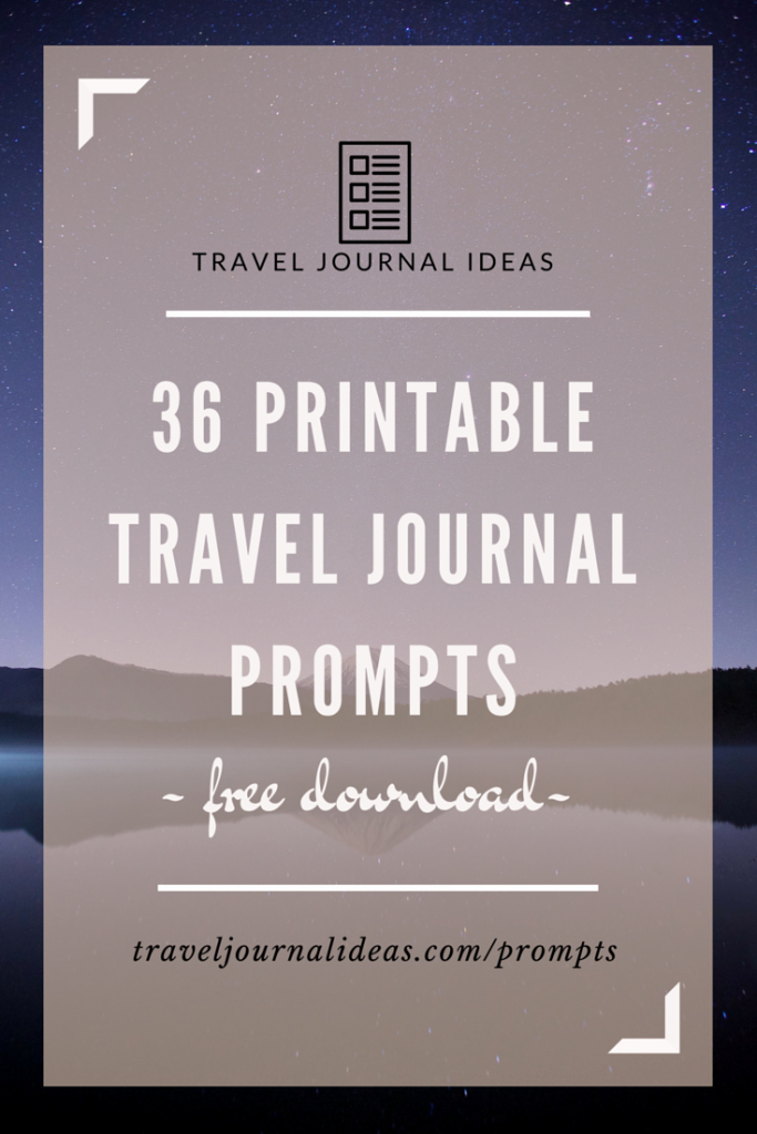 Rv Journal Template Unique 36 Free Printable Travel Journal Prompts … Journals