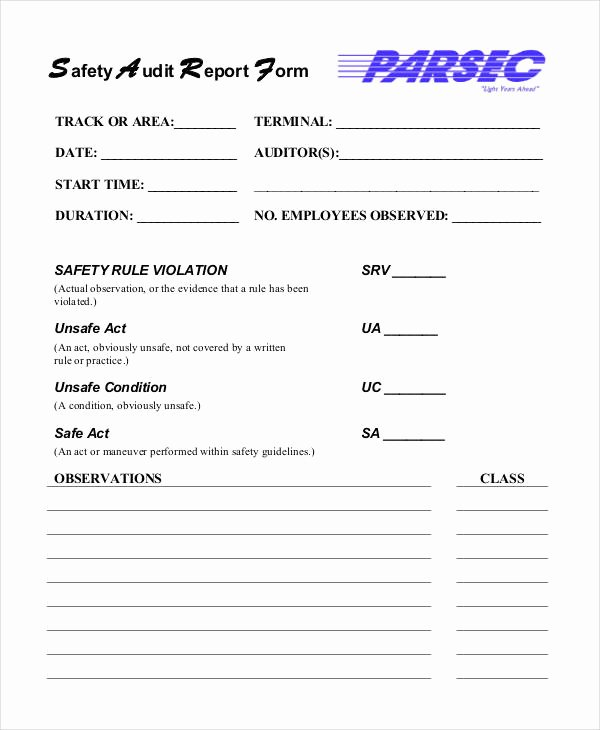 Safety Audit Report Sample New Safety Audit Report Templates 14 Free Pdf format