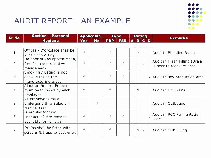 Safety Audit Report Sample Unique Example Safety Audit Report – Internal Audit Report