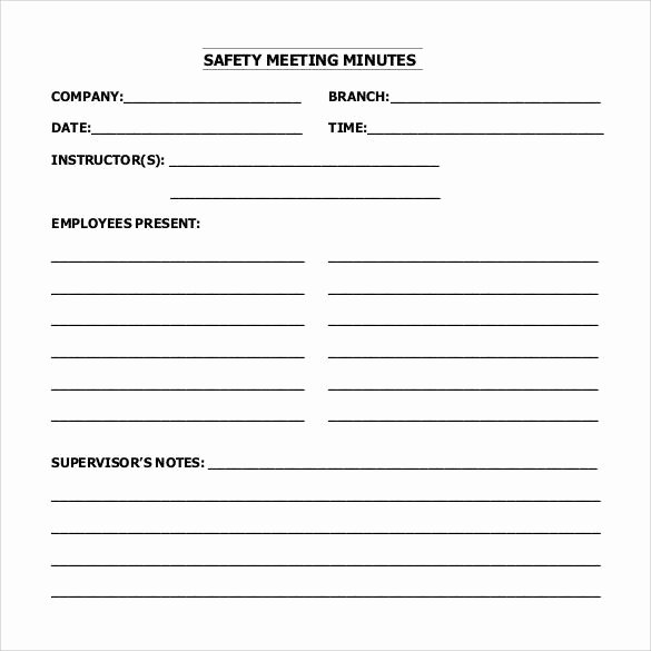 Safety Meeting Minutes Template Beautiful 44 Sample Meeting Minutes Template Google Docs Apple