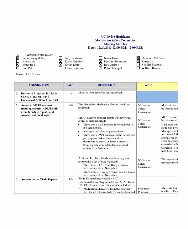 Safety Meeting Minutes Template Elegant Safety Meeting Minutes Template 12 Free Sample Example