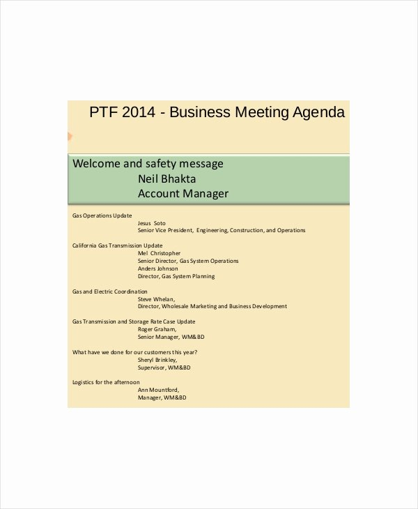 Safety Meeting Minutes Template Unique Safety Meeting Agenda Template – 8 Free Word Pdf