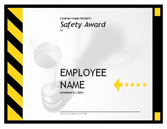 Safety Training Certificate Template Fresh 23 Best Safety Award Plaques Images On Pinterest