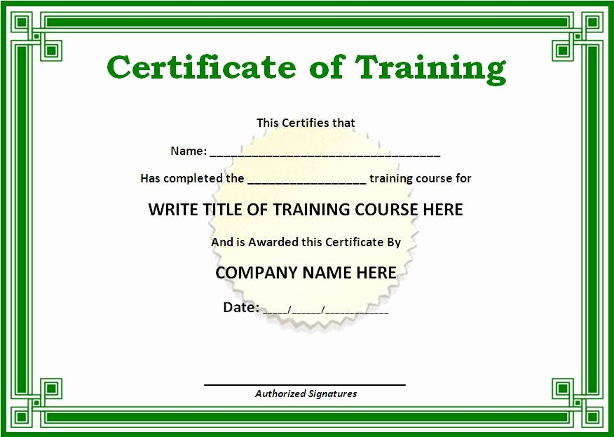 Safety Training Certificate Template Unique Certificate Templates