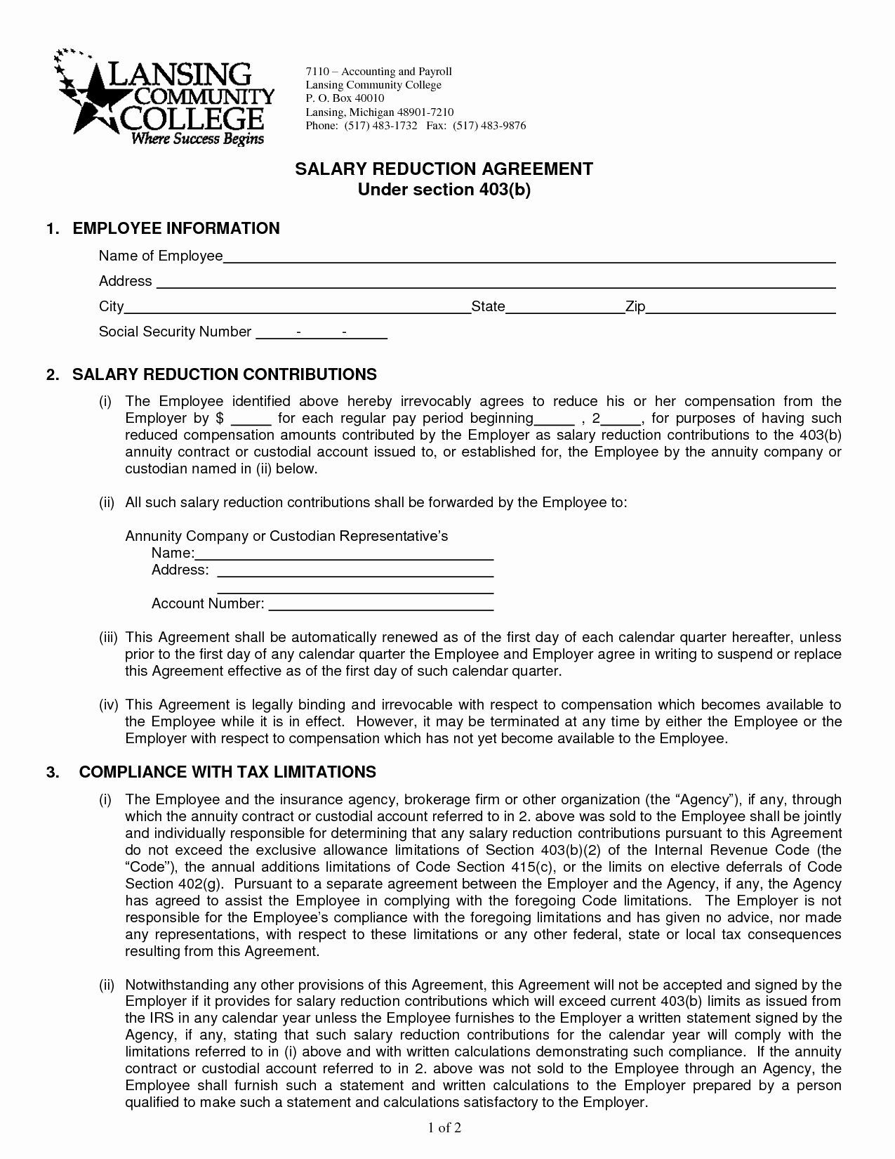 Salary Agreement Letter Awesome 10 Best Of Salary Agreement Letter Sample