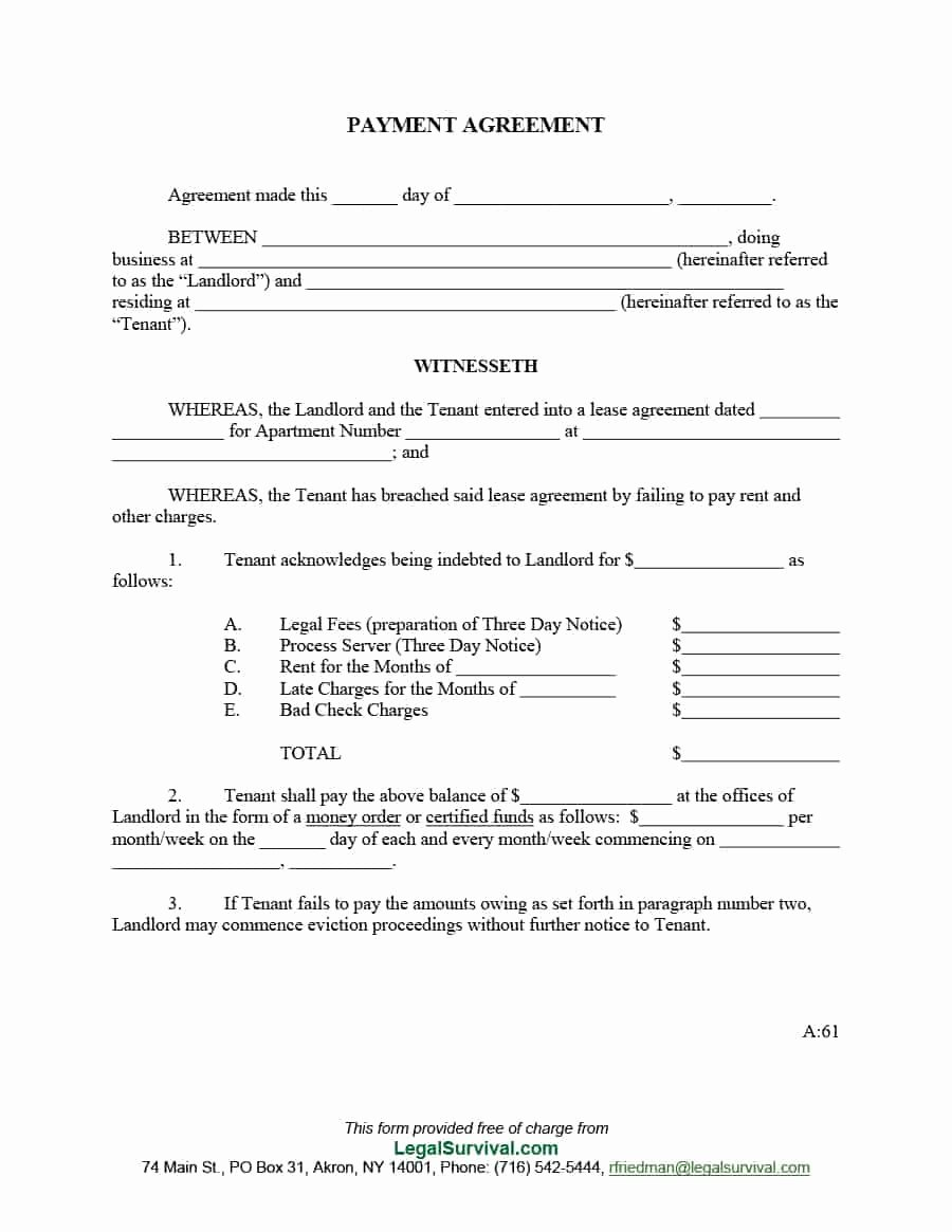 Salary Agreement Letter Best Of 33 Great Payment Plan Schedule Templates Template Archive