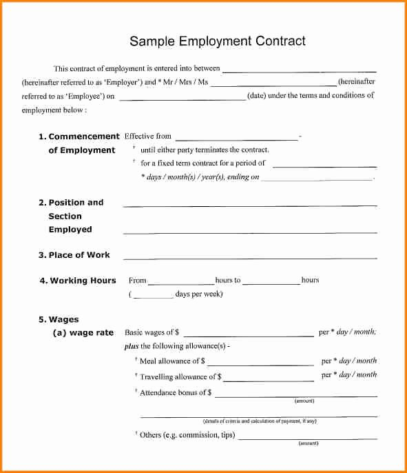Salary Agreement Letter Elegant 9 Salary Contract Template