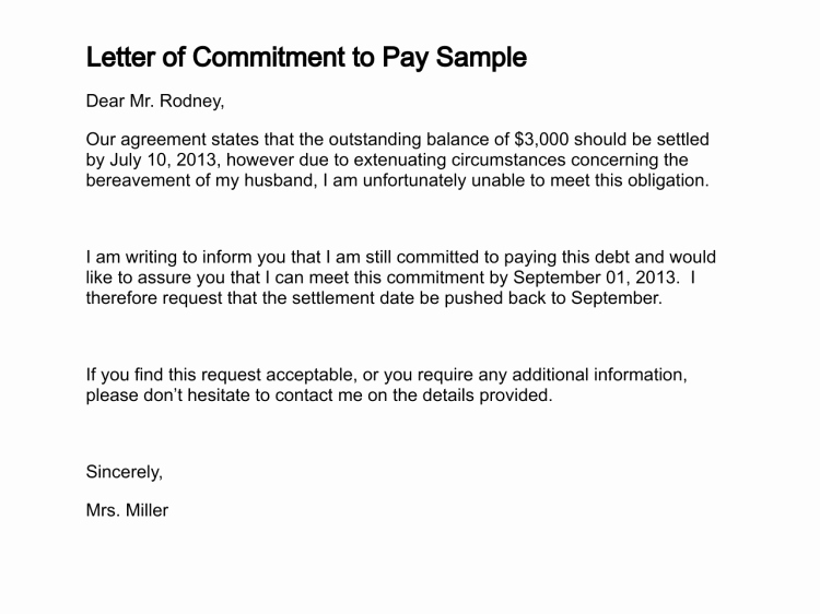Salary Agreement Letter Fresh Letter Of Mitment