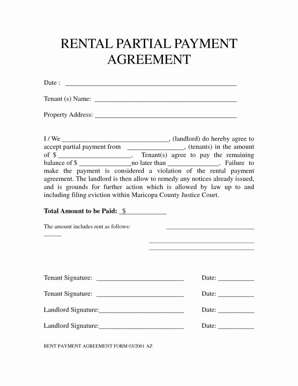 Salary Agreement Letter Inspirational Agreement to Pay Rent Advanced Rent Agreement Letter