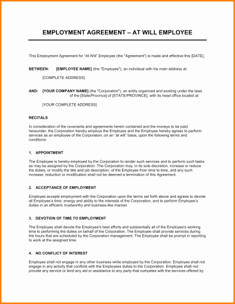 Salary Agreement Letter Lovely 9 Salary Contract Template
