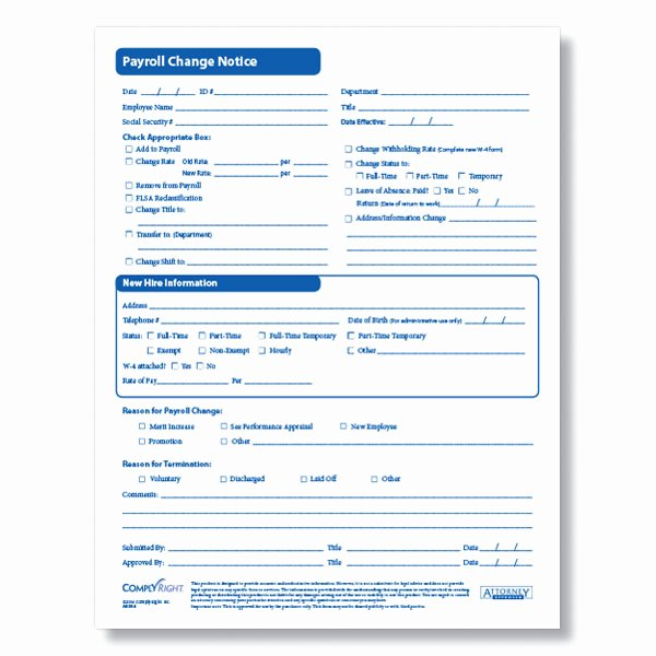 Salary Change form Best Of Payroll Change form for Documenting Employee Payroll Changes