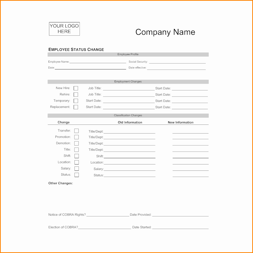 Salary Change form Inspirational 9 Salary Change form Template