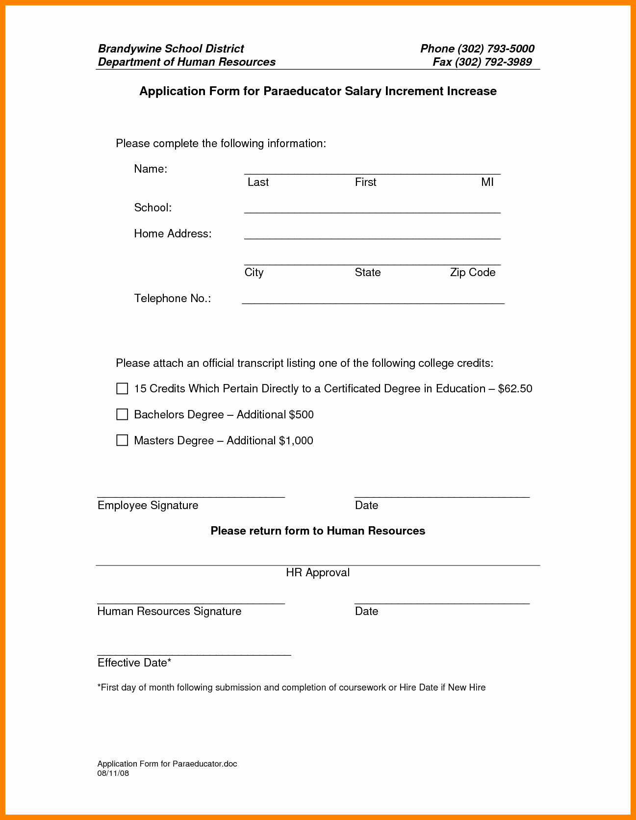 Salary Change form Inspirational 9 Salary Increase Template Excel