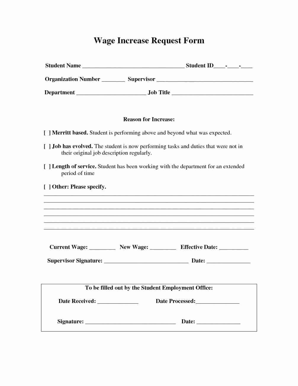 Salary Change form New Wage Agreement Template Detail How to Write A Salary