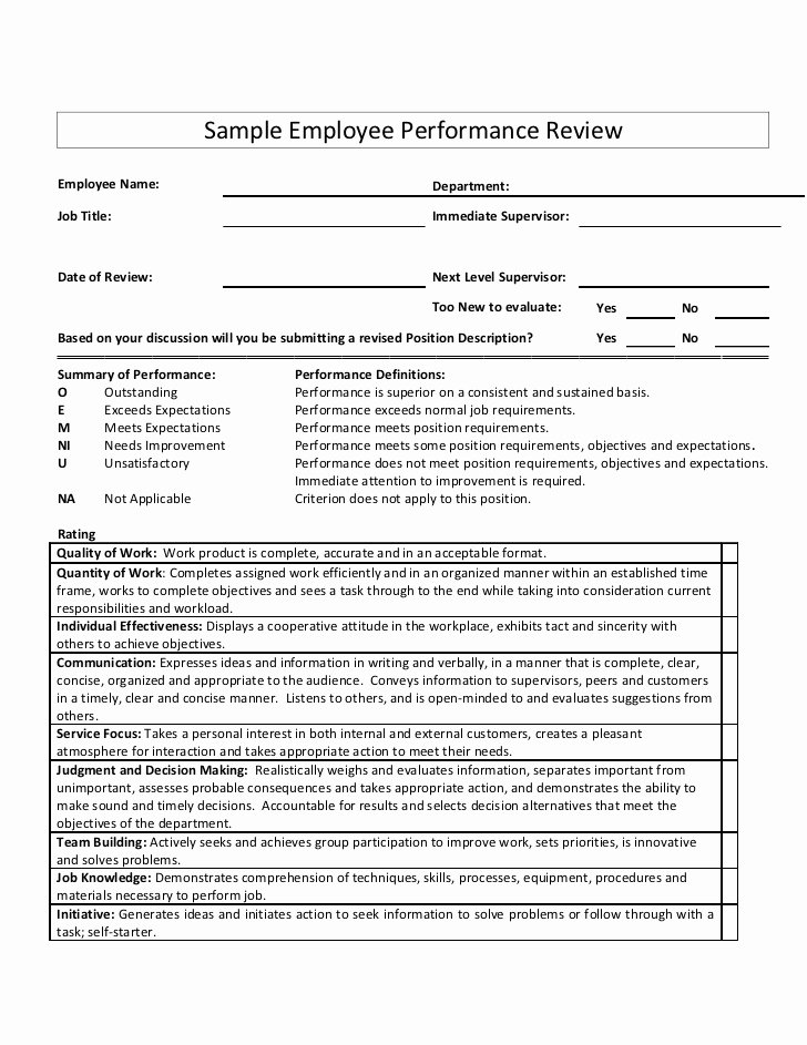 Sales associate Performance Review Examples Luxury Sample Employee Performance Review
