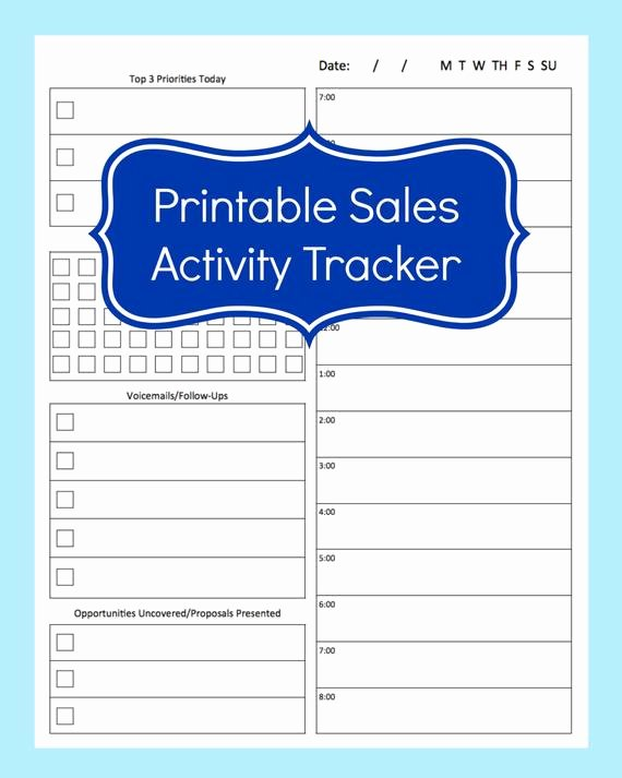 Sales Call Sheet Template Free Best Of Sales Activity Tracker Daily Planner Cold Call Tracker