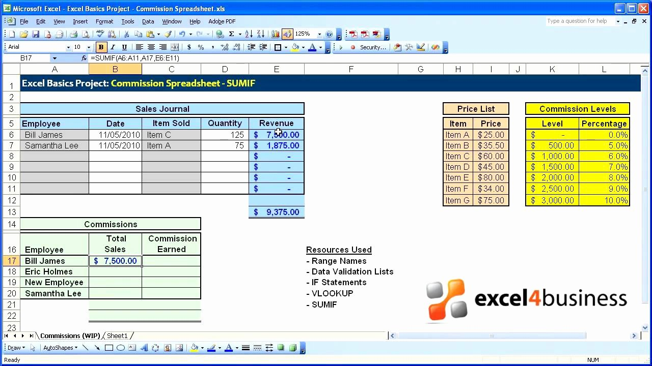 Sales Compensation Plan Template Excel Luxury Excel Basics 019 Project Mission Spreadsheet