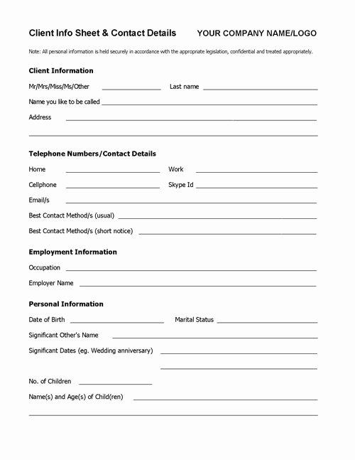 Sales Customer Profile Template Elegant Wel E Pack toolkit