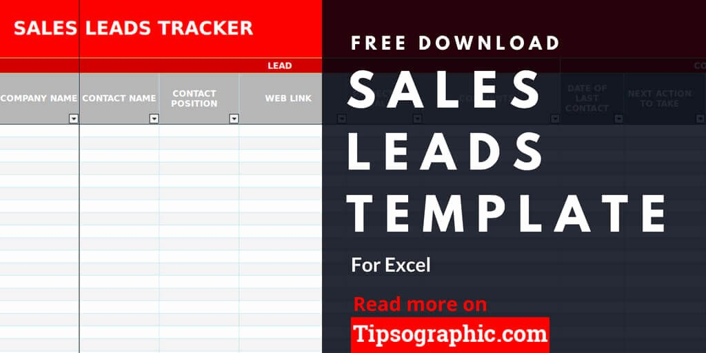 Sales Lead Sheet Template Awesome Sales Lead Template for Excel Free Download