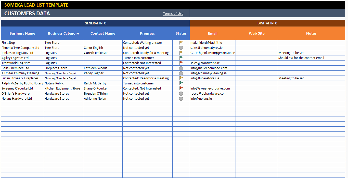 Sales Lead Sheet Template Unique Lead Tracking Excel Template Customer Follow Up Sheet