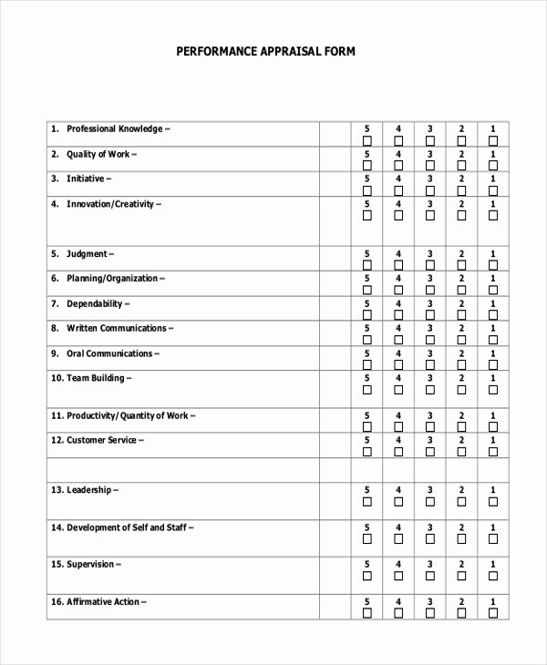 Sales Performance Appraisal form Beautiful 7 Sample Sales Appraisal forms Free Sample Example format