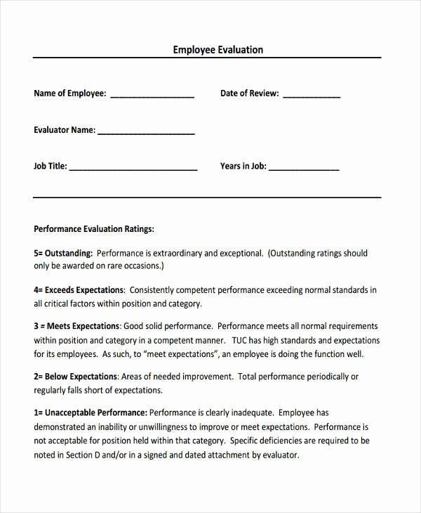 Sales Performance Appraisal form Beautiful 8 Sales Evaluation form Samples Free Sample Example
